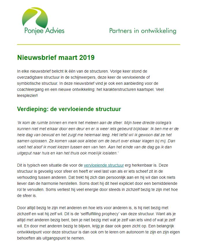 Nieuwsbrief maart 2019 foto Ponjee advies