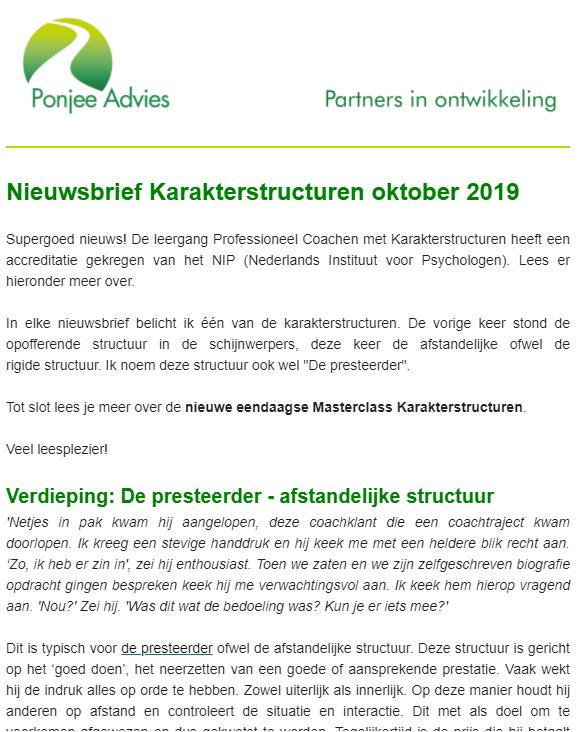 Nieuwsbrief Ponjee advies oktober 2019